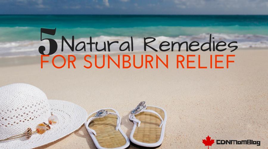 Natural Sunburn Relief via @CDNMomBlog